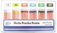 Meta Gutta Percha Points 20 Iso Sized Box Of 120 Dental
