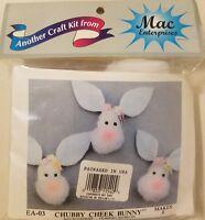 Chubby Cheeky Easter Bunny Kid's Craft Kit w/ Pom Poms & Felt Mac Enterprises