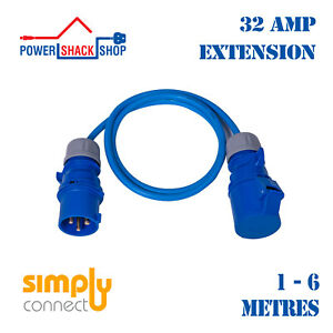 SC, EXTENSION LEAD, 32 Amp 4mm² Outdoor Cable, 1 - 6 Metres