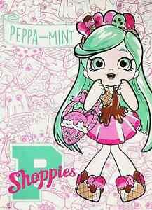"Peppa- Mint  - Shopkins Shoppies Mini Poster 8"" x 11"""