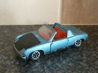 DINKY TOYS No.208 V/W PORSCHE 914 BLUE BODY BLACK BONNET RED INTERIOR VGC