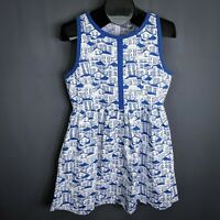 Mata Traders Dress Size Large Blue White Womens Modcloth Summerfest House