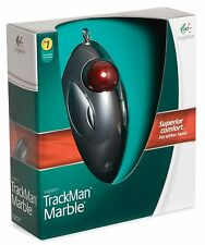 [Logitech] TrackMan Marble Trackball Mouse,USB,800DPI,Wired,Left&Right handed