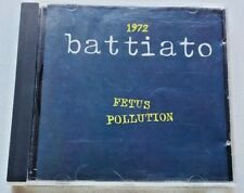 Franco Battiato 1972 Fetus Pollution  Ricordi 1990 CD usato