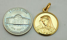 14K gold Virgin Mary ( Madonna ) medal / pendant