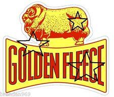 VINTAGE GOLDEN FLEECE GASOLINE PETROL DECAL STICKER LABEL LARGE 240 MM WIDE