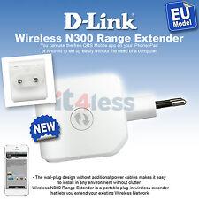 D-Link N300 Universal Wi Fi Range Extender Signal Booster Easy Setup EU Plug NEW