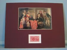Betsy Ross sews the First U.S. Flag & her own stamp
