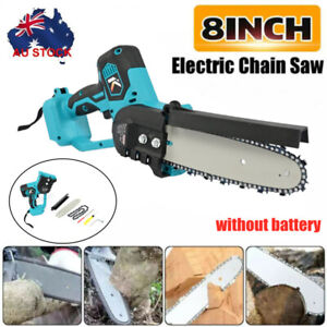 8'' Cordless Electric Wood Cutting Saw Cutter Chainsaw For Makita 18V Battery