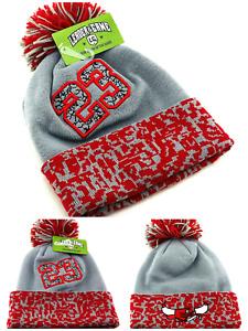 Chicago New Leader 23 Jordan Bulls Gray Red Toque Cuff Pom Beanie Era Hat Cap