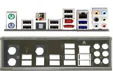 ATX panneau I/O shield Asus p7p55d-e pro nouveau OVP Io #86 Backplate bracket NEW