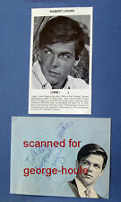ROBERT LOGAN - AUTOGRAPHS - JAYNE MEADOWS - 77 SUNSET STRIP - STEVE ALLEN