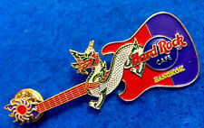 BANGKOK THAI 3D DRAGON RED PURPLE LEFT HAND FENDER GUITAR 04 Hard Rock Cafe PIN