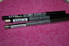 LOT OF 3 NYX Eye  Liner Pencil in TAUPE SEALED & BLACK  & LIP LINER LATTE