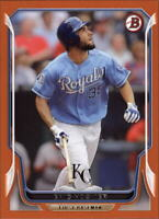 2014 Bowman Orange Kansas City Royals Baseball Card #188 Eric Hosmer /250