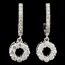CERTIFIED $9177 14K Gold 1.76ctw Diamond Earrings