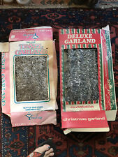 Vintage Lot Deluxe Christmas Tinsel Garland Ornaments Nib