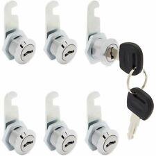 6 Pack Cabinet Locks With Keys File Cabinet Cam Cylinder Lock Drawer 1219 16mm