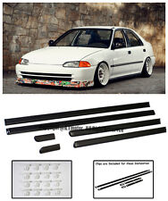 For 92-95 Honda Civic EG 4Dr Sedan JDM Clip-On THIN Side Moling Trim Panels Kit