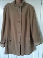 M & S Classic Wool/Cashmere 3/4 Camel Ladies Jacket Size 18 Best Price