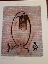 MAX ERNST Original lithograph 1971 Aux Petits Agneaux Plate # 9