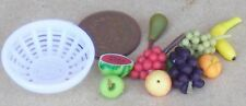 1:12 Scale 9 Pieces Of Fruit Loose In A White Plastic Bowl Tumdee Dolls House