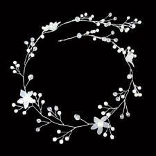 Fashion Bride Bridal Floral Pearl Crystal Wedding Head Piece Hair Accessories