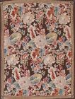 Vintage Floral Tapestries Chinese Oriental Area Rug Wool Hand-Woven 4x5 Carpet
