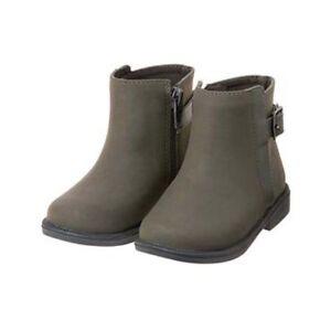 NWT Gymboree EIFFEL FLOWERS Sz 6 7 8 9 Grey Buckle Strap Boots NEW