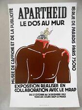 WILLEM Affiche originale 1982 APARTHEID Droits de l'homme MRAP Pays-Bas Ermelo