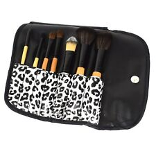 Make-Up Pinsel Tasche Leopard - 7-teiliges Pinsel Set - Rouge - Lied Pinsel