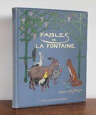 Fables de La Fontaine cent fables choisies M.L. Tarsot ND Henry Morin