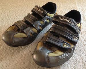 Shimano Yellow and Grey Women's Cycling Triathlon Shoes EU 40 US Women's 9