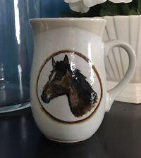 Vintage Otagiri Handcrafted Handpainted Horse Mug Brown American Quarter Arabian