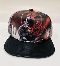 27bd32972bc2d Nuevo DC COMICS Comic Batman Gorra Snapback Sombrero Sombrero de cuero de  imitación