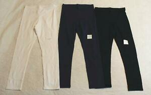 Old Navy Girl's Elastic Waist Long 3-Pack Leggings NB7 Multicolor Large NWT