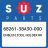 68261-38A30-000 Suzuki Emblem,tool holder rr 6826138A30000, New Genuine OEM Part