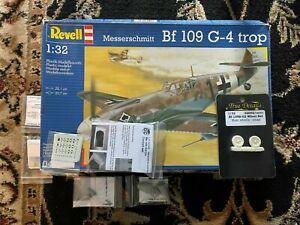 1/32 Scale Revell Hasegawa Messerschmitt Bf109G-4 Trop plus MDC Extras