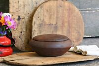 Small Antique Wooden Bowl Original Hand Carved Bowl Primitive Table Decor