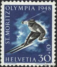 Suisse 495x neuf avec gomme originale 1948 Jeux Olympiques Jeux d et #39;hiver