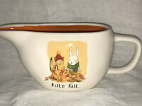 HELLO FALL Gravy Boat Rae Dunn Artisan Collection by Magenta #212 Rabbit Squirre
