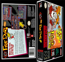 Ren and Stimpy Fire Dogs - SNES Reproduction Art Case/Box No Game Super Nintendo
