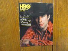 June-1981 HBO Home Box Office TV Magazine(JOHN TRAVOLTA/URBAN COWBOY/THE SHINING