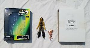 Star Wars Oola & Salacious Crumb POTF2 Fan Club Exclusive Figures 1998 Loose Box