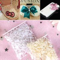Mixed Size DIY Craft Half Round Pearls Nail Art Flatback Resin ABS Imitation