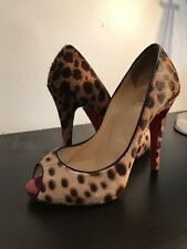 christian Louboutin leopard pony hair pumps size 35