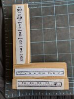 EUC! RARE! Teesha Moore Zettiology Mounted Rubber Stamps Lot of 3 Rulers & Dates