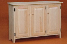 NEW AMISH MADE Unfinished Solid Pine | Sideboard | Buffet | Server | Cabinet