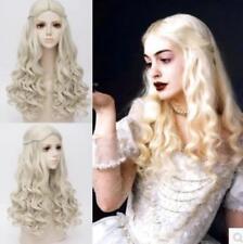 Blonde Alice In Wonderland 2 Separately In The White Queen Skin Curl Cosplay Wig