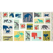 Baby Chic Animals Panel Elephant Giraffe Alligator Ostrich Andover
